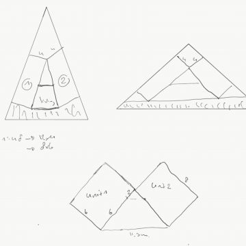 Shape studies for triangular dream house